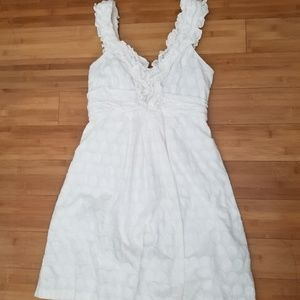 Beautiful B Darlin white sundress with ruffles EUC